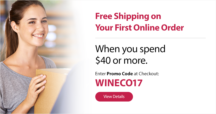 Spend $40 Get Free Shipping - Promo Code: WINECO17
